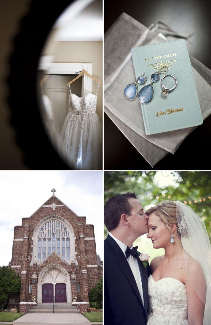 classic real wedding elegant fall reception bride groom kiss engagement ring wedding dress