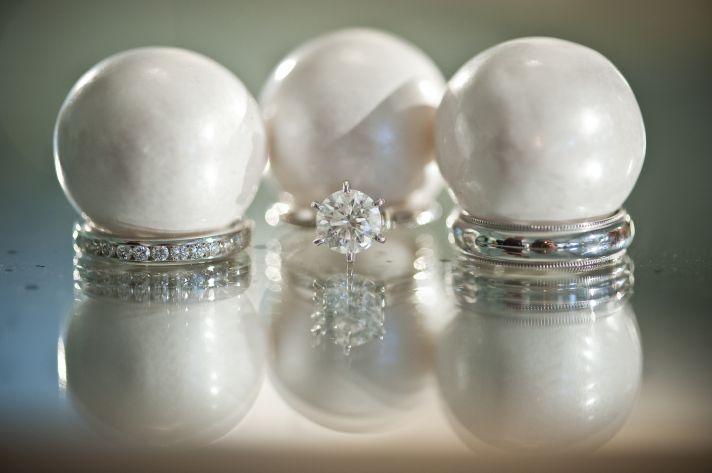 artistic engagement ring wedding bands photo