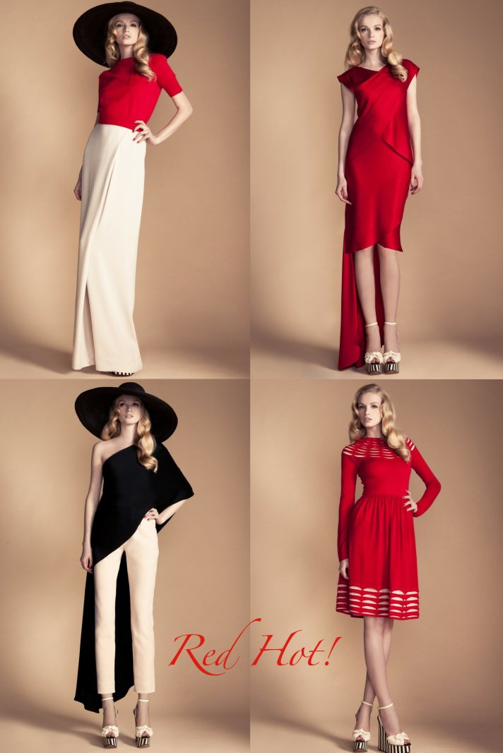 red hot vintage wedding inspiration Temperley London
