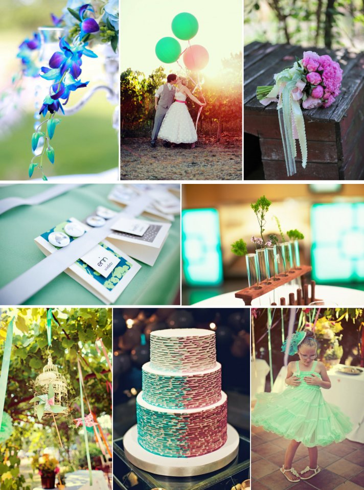 Daiquiri Ice Cool Wedding Color Inspiration | OneWed