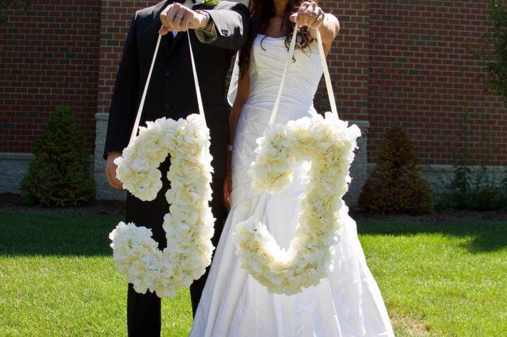 ideas to incorporate a custom wedding monogram Etsy weddings ceremony flowers
