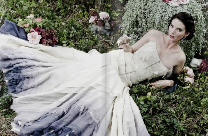 vintage bridal style enchanted garden wedding