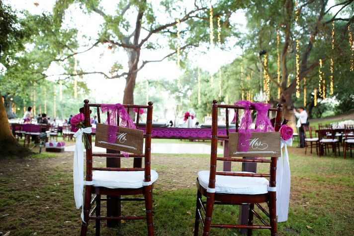 elegant outdoor wedding at winery in Malibu outdoor reception enchanted decor