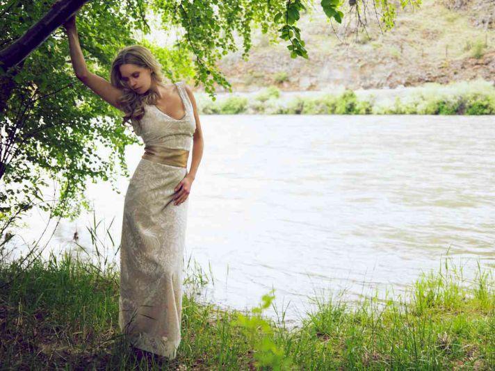 Etsy Tea Length Wedding Dress 91 Best classic column wedding dress