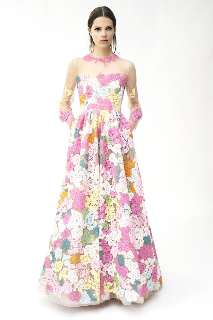 floral printed wedding dress by Valentino 2