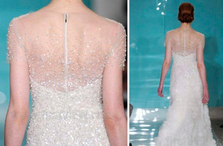 reem acra 2013 wedding dress statement back bridal gowns 1