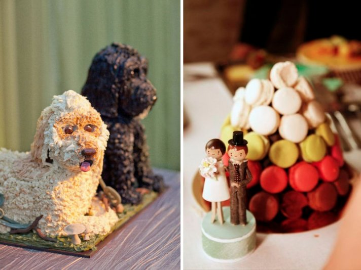unique wedding cakes non cake reception desserts dogs macaroons