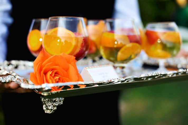 rustic citrus wedding inspiration outdoor spring wedding ideas signature cocktails