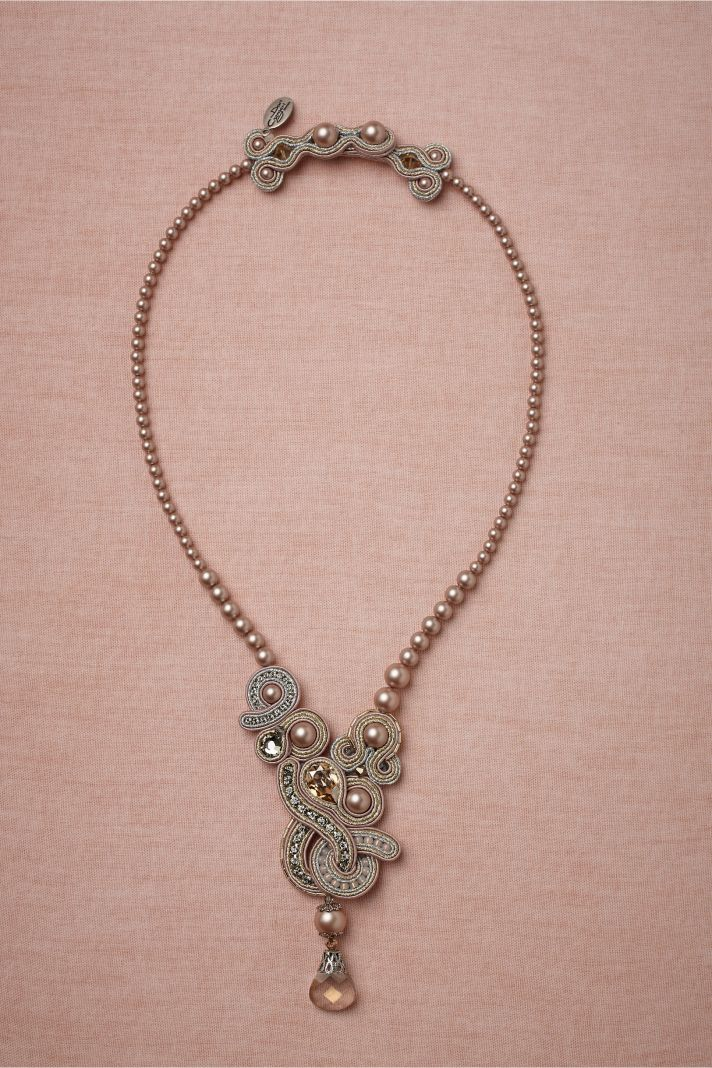 bhldn wedding necklace pearls