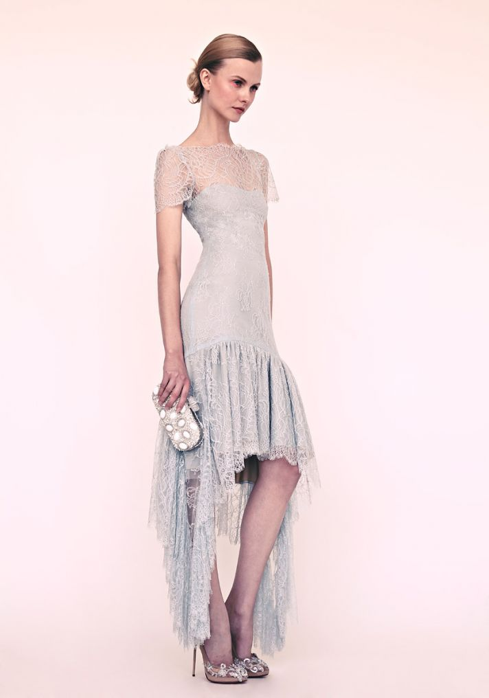 romantic lace LWD by Marchesa Resort 2013 wedding inspiration