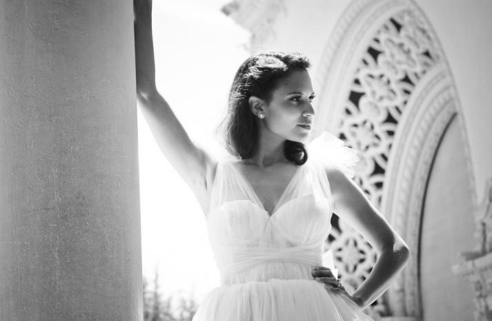elegant wedding dress from Etsy illusion straps