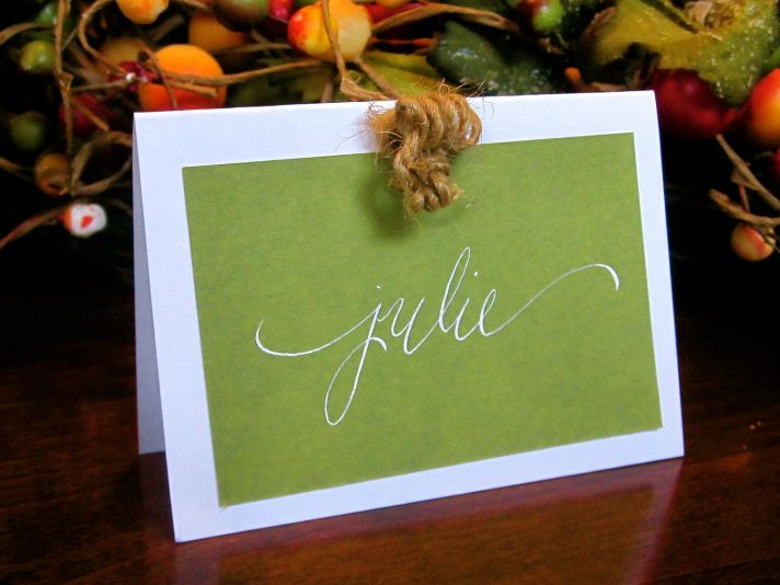 handmade wedding escort cards Etsy wedding stationery rustic green