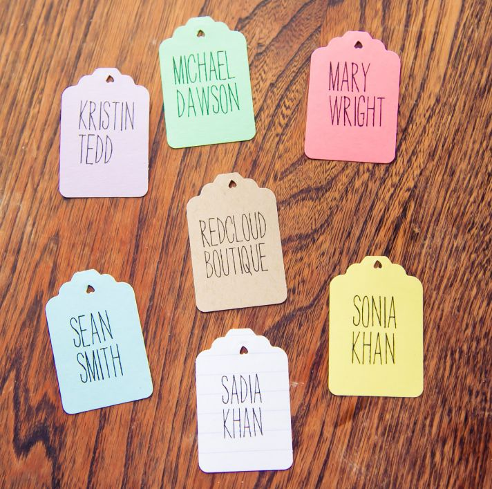 handmade wedding escort cards Etsy wedding stationery colorful