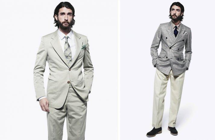 grooms style inspiration 2012 weddings Alexander McQueen gray khaki