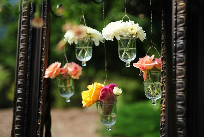 real wedding photography planning inspiration romantic hanging flowers