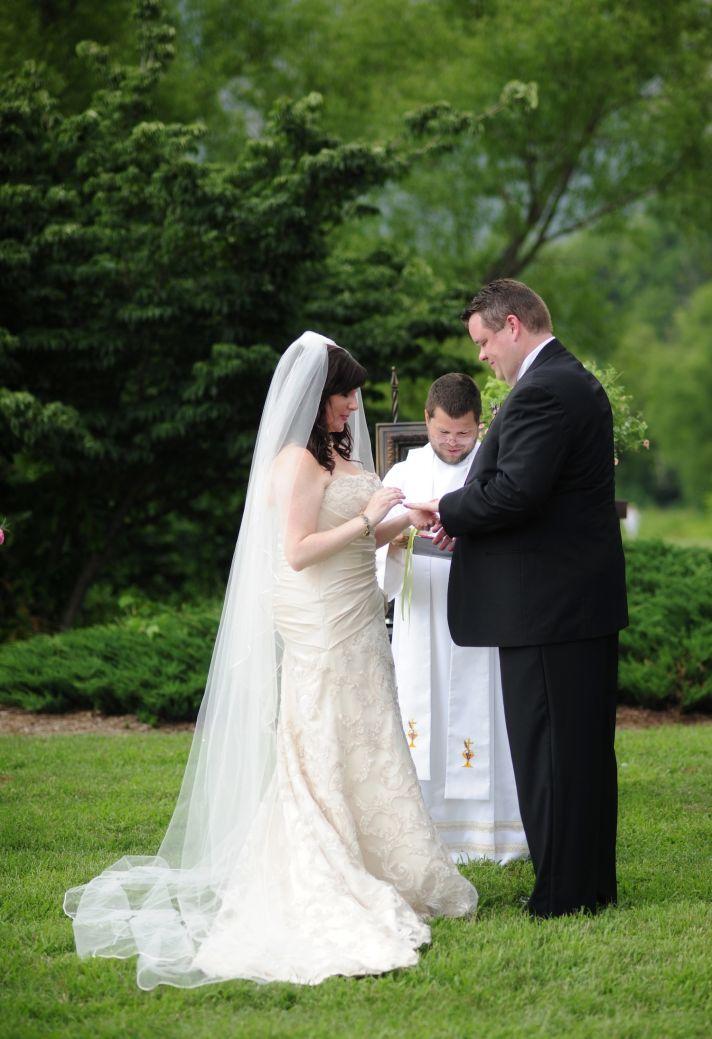 real wedding north carolina outdoor ceremony vows