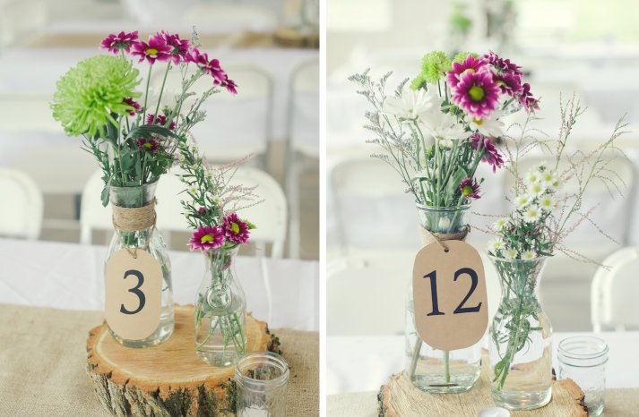 elegant rustic wedding tent wedding venue wildflower centerpieces