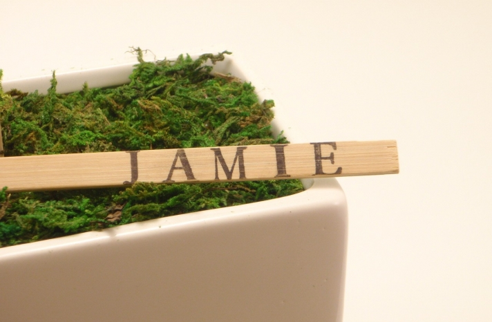 wedding reception details natural bamboo escort cards