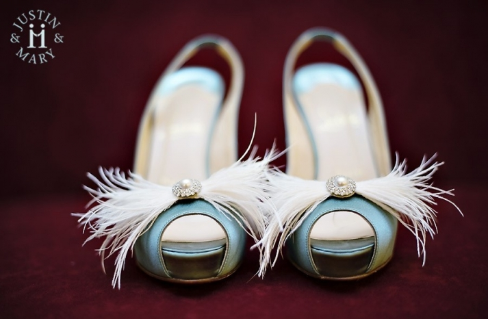 vintage inspired wedding accessories peep toe shoes