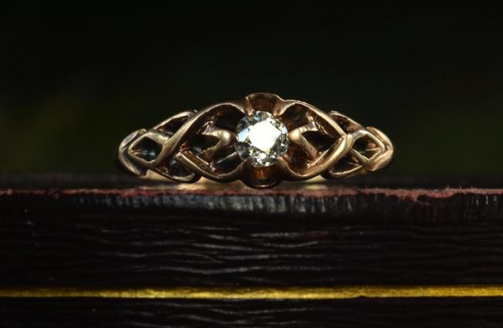 antique engagement rings for vintage brides 1890s rose gold