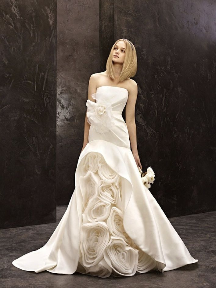 Mermaid Style Wedding Dresses Vera Wang : Wedding dress white by vera wang bridal gowns strapless mermaid