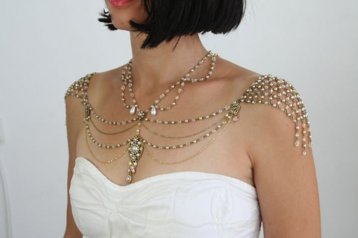 shoulder necklace for vintage brides