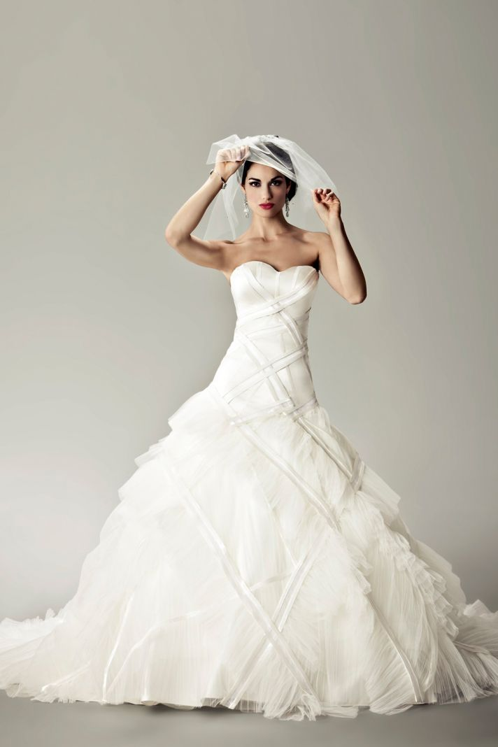 2012 wedding dresses Matthew Christopher bridal gown bardot