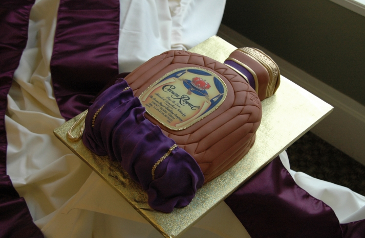 fun wedding cake ideas grooms cakes crown royal