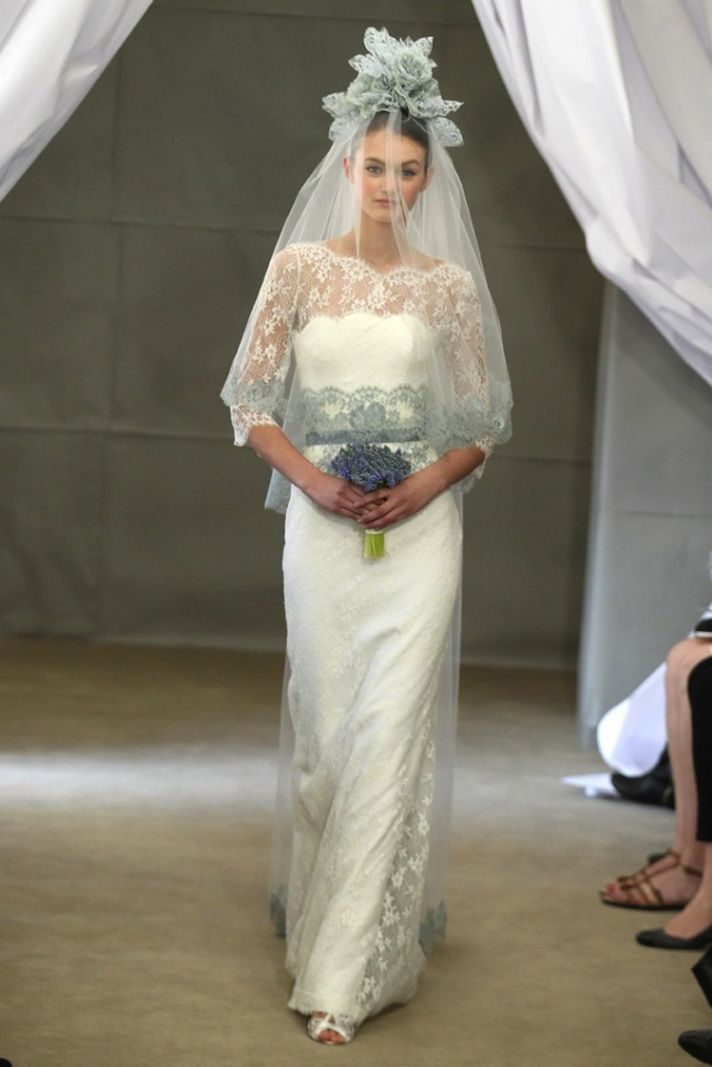 2013 wedding dress perfect for church wedding Carolina Herrera lace