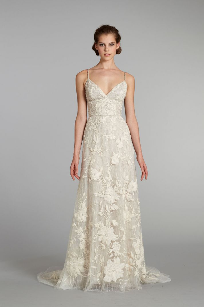 fall 2012 wedding dress Lazaro bridal gowns 3257 f