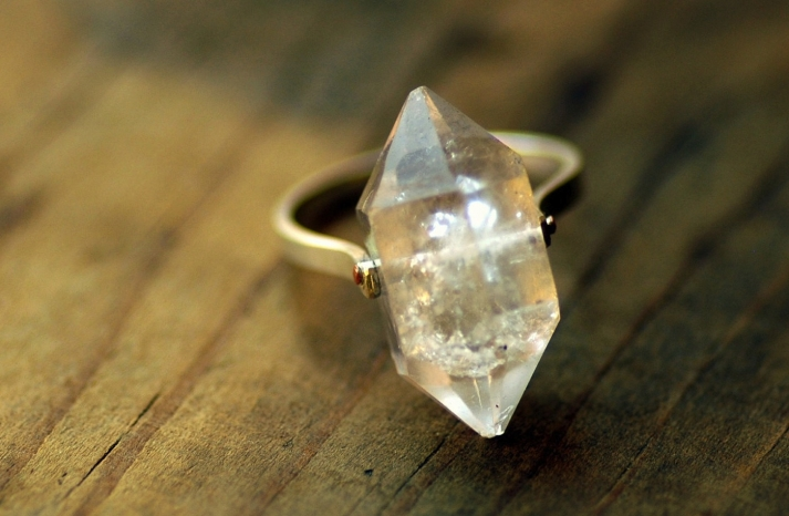 unique engagement rings wedding bands on etsy herkimer diamond