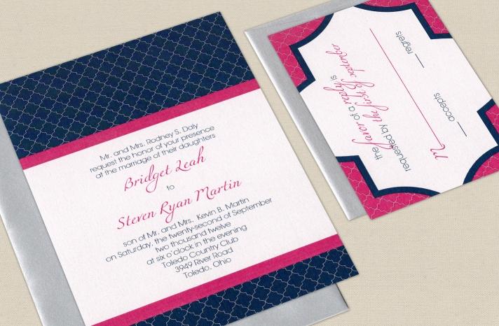 wedding color inspiration navy blue bridal wedding finds pink silver navy invitations