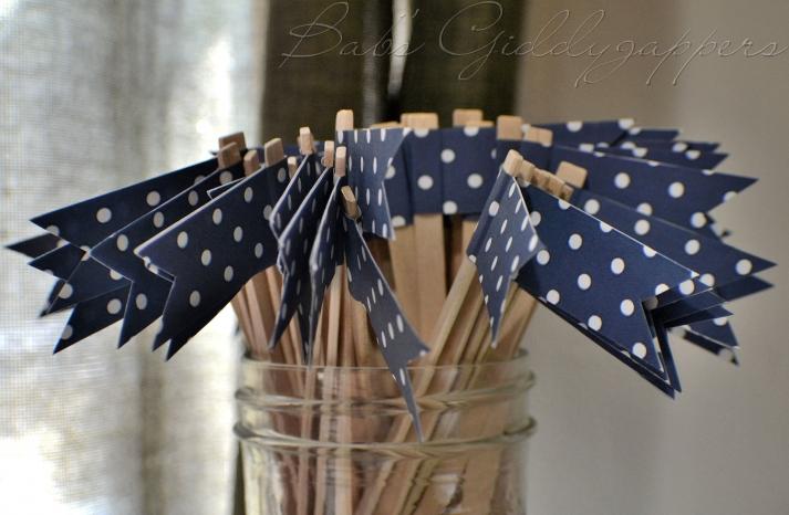 wedding color inspiration navy blue bridal wedding finds polka dot drink stirs