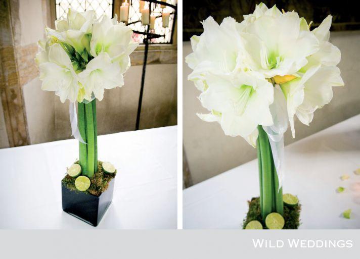 10 white wedding flowers we love amaryllis centerpiece