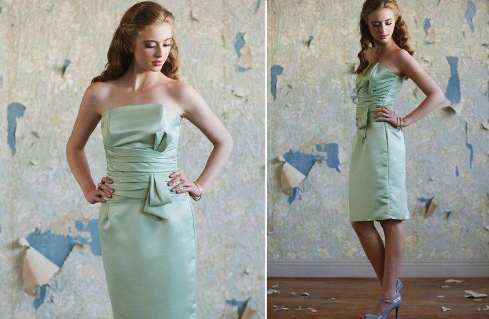 ruche bridesmaids dresses afforadable stylish bridal party attire 3