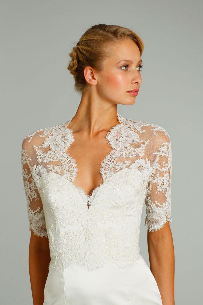 fall 2012 wedding dress Jim Hjelm bridal gowns 8256 detail