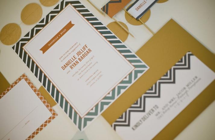 chevron wedding inspiration wedding decor details for the reception rehearsal dinner invitation