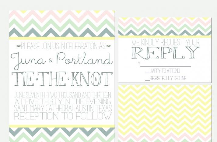 chevron wedding inspiration colorful pastel invitations