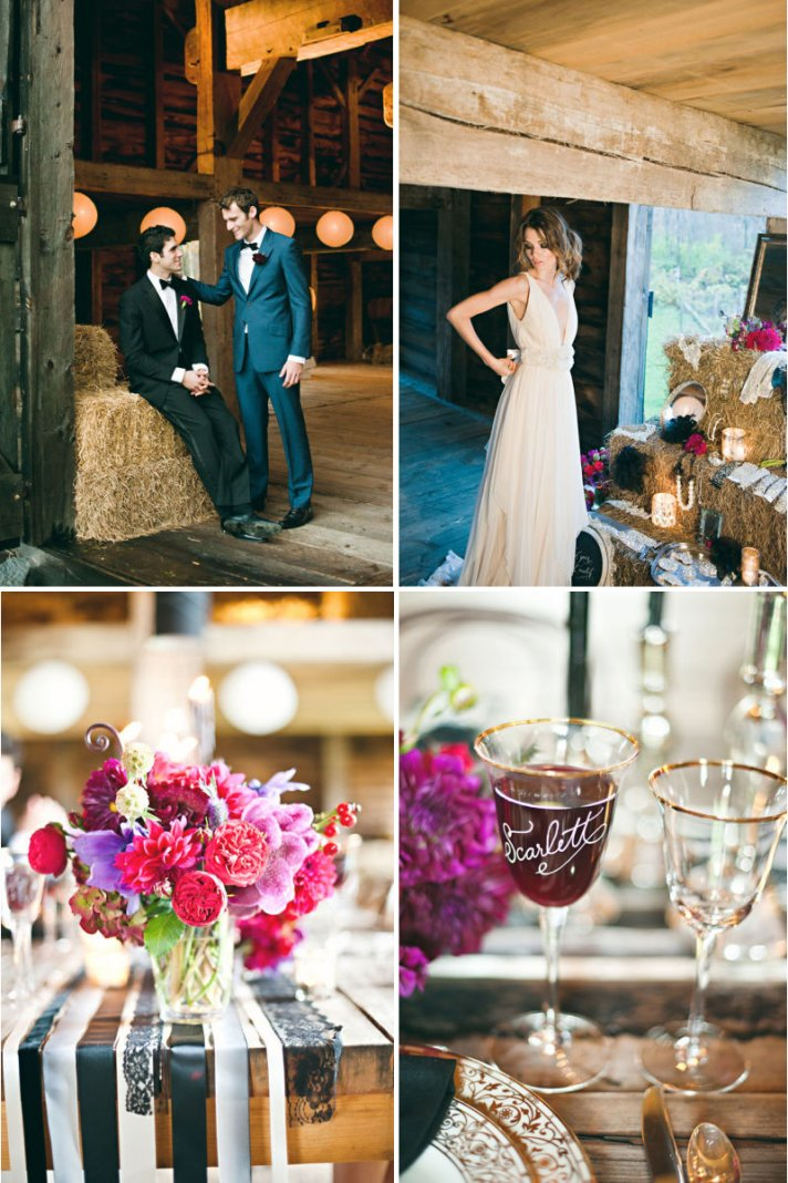 rustic luxe wedding theme pink wedding flowers barn venue
