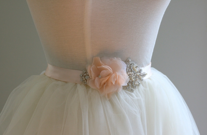 peach wedding pretties for romantic weddings elegant bridal sash