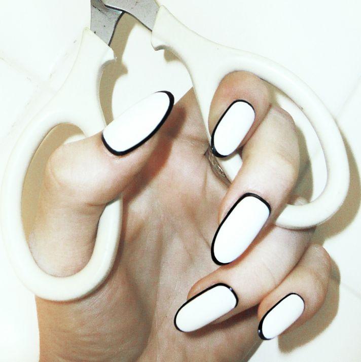 wedding worthy manicures for the fashion forward bride white black