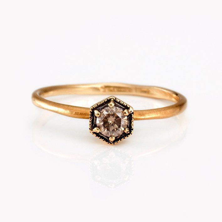 unique engagement rings and wedding bands by Satomi Kawakita vintage inspired