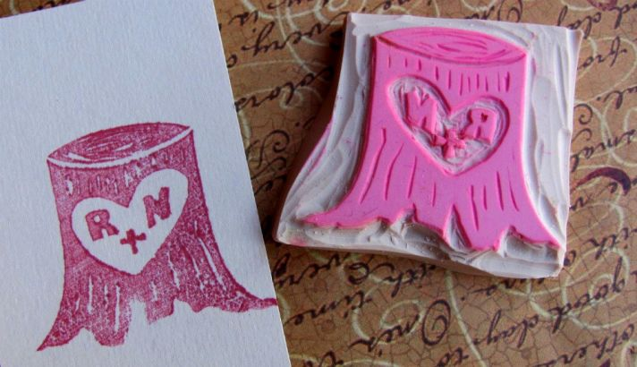 heart infused wedding ideas handmade weddings by Etsy custom stamp