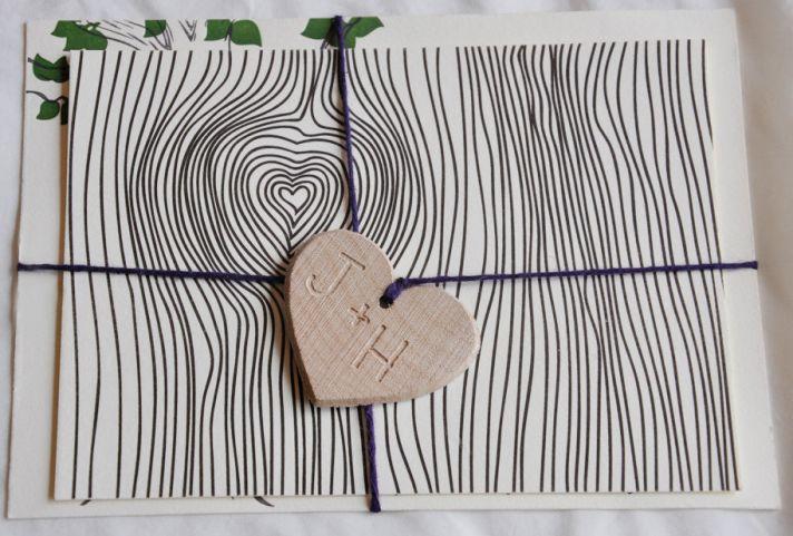 heart shaped wedding ideas rustic invitations 1