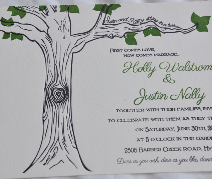 heart shaped wedding ideas rustic invitations 1