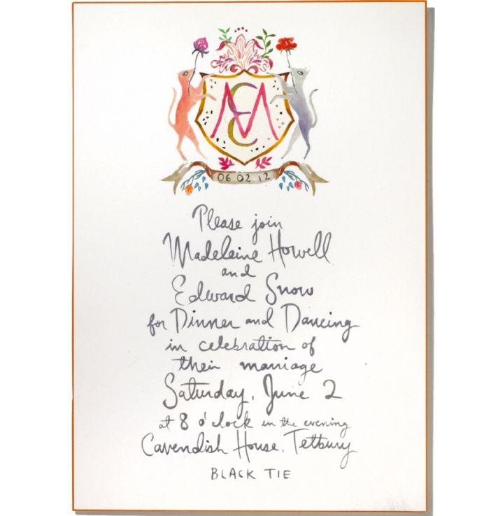 custom wedding ideas personalized crest royal wedding inspired