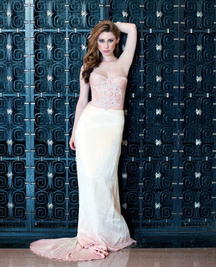 unique wedding dresses non white bridal gown Gwen dress