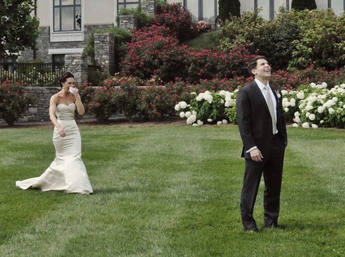 elegant real wedding North Carolina estate venue first look