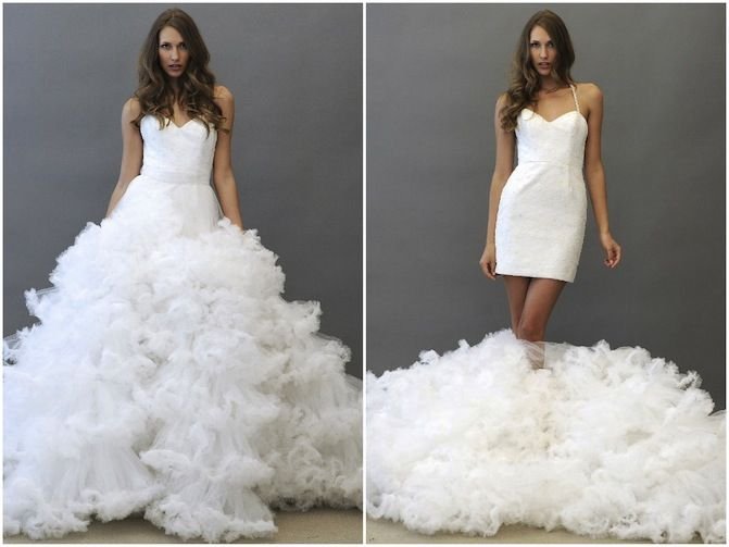 two in one wedding dress 2013 bridal gowns Hayley Paige 2