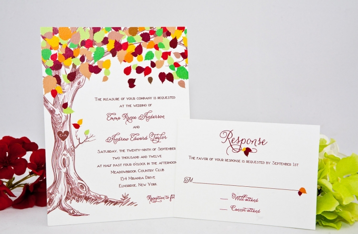 handmade wedding finds for fall weddings colorful invitations